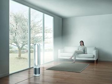 Dyson Pure Cool Link Turm-Luftreiniger (Speziell für Allergiker, HEPA Filter, Ventilatorfunktion, automatische Reinigung, App Steuerung, Sleep-Timer, Fernbedienung) weiß -