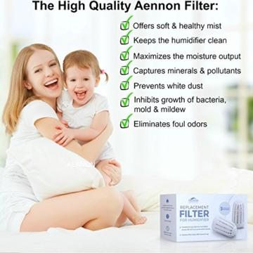 3 Ersatzfilter für Aennon Cool Mist Ultrasonic Luftbefeuchter – Auch für einige andere Marken einsetzbar (3er Packung Luftbefeuchter Filter) -