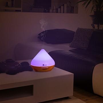 Aroma Diffuser 300ml TaoTronics Luftbefeuchter Oil Düfte Humidifier Holzmaserung LED mit 7 Farben für Yoga Salon Spa Wohn-, Schlaf-, Bade- oder Kinderzimmer Hotel -