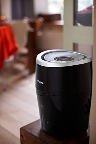 Philips Luftbefeuchter HU4813/10 (bis zu 44m², hygienische NanoCloud-Technologie, leiser Nachtmodus, Automodus) -