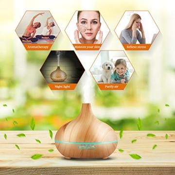 VicTsing 300ml Aroma Diffuser Luftbefeuchter Ultraschall LED Humidifier Aromatherapie Öle Diffusor Tragbarer für Babies Kinderzimmer Haus, Auto, Wohnzimmer, Schlafzimmer, Büro, Yoga, Spa, Raum,usw. -